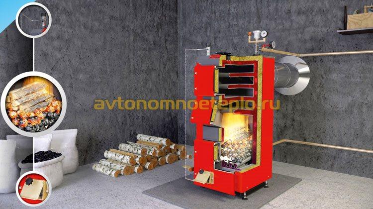 устройство котла для длительного сжигания угля