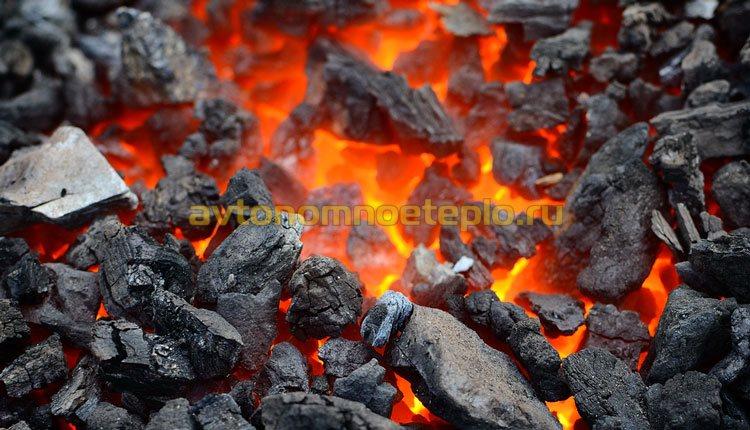горение угля в котле