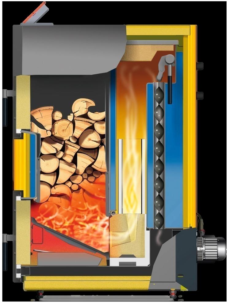 котел газогенератор с боковой загрузкой