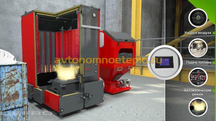 принцип работы промышленного котла автомата