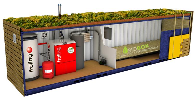 блочная контейнерная котельная на твердом топливе