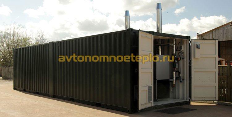 блок-контейнер с промышленным котлом