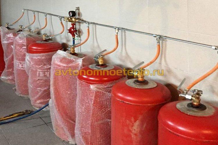 отопление загородного дома от газовых баллонов