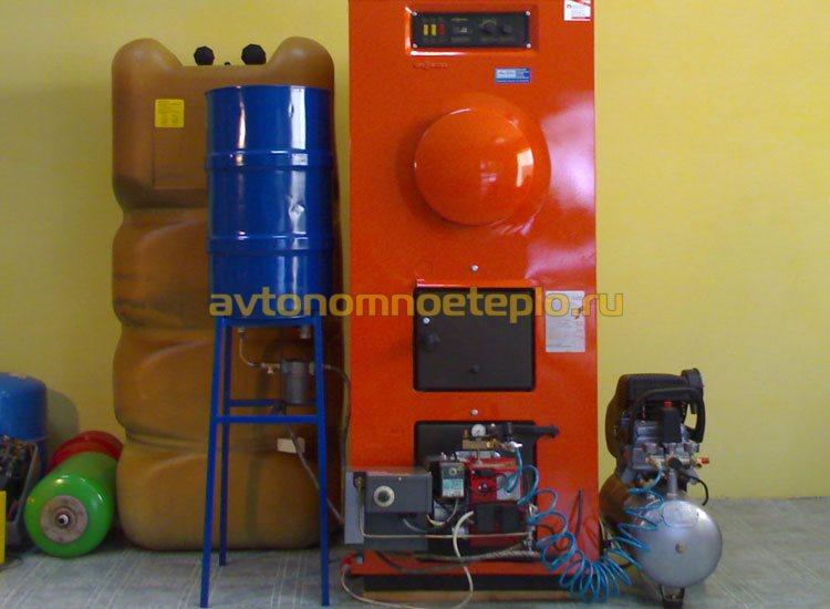 котел для сжигания твердого и жидкого топлива