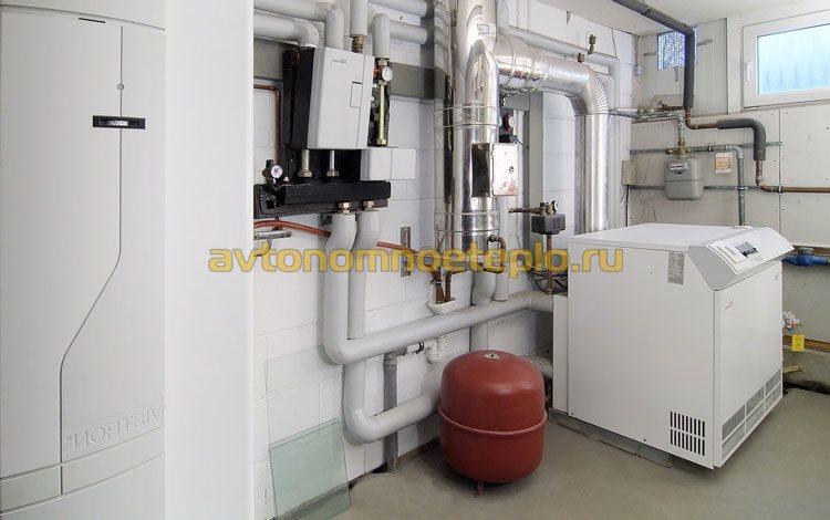 газовая котельная в подвале здания