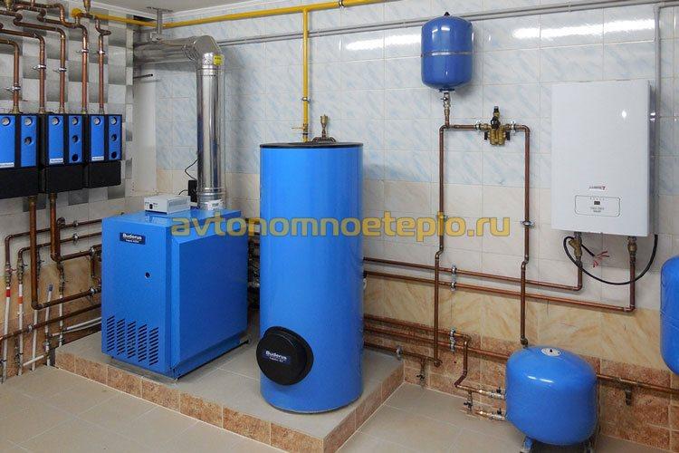 напольный котел отопления и горячего водоснабжения