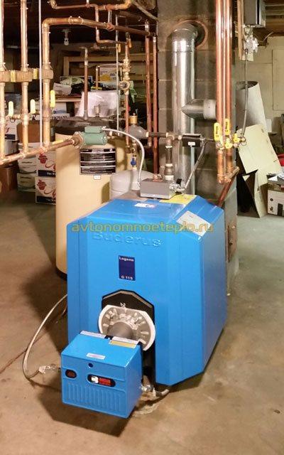 котельная на отработке для нагрева воды
