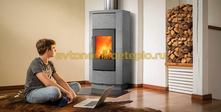 дровяная печь-камин финского производства
