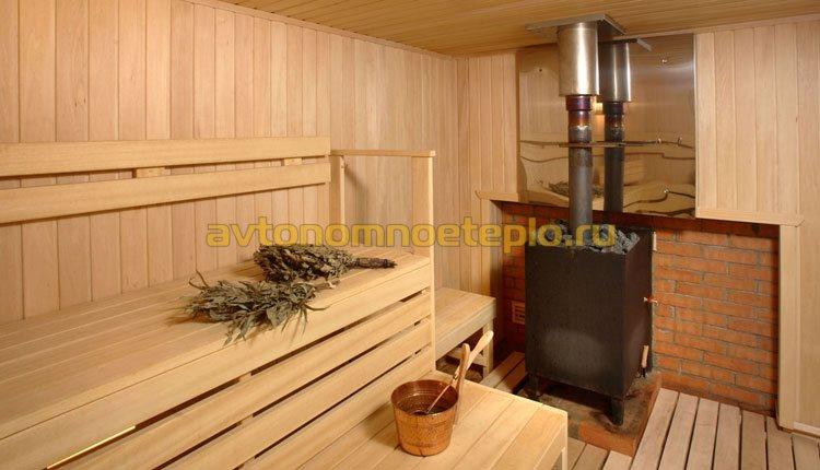 газовая банная печка