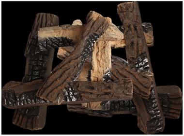 дрова из керамики