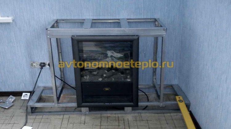 установка электрокамина в портал