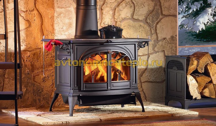 дровяная дачная печка из чугуна