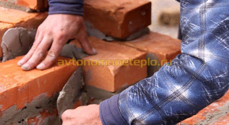 облицовка домашней металлической печки кирпичом