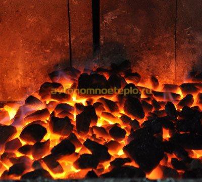 уголь в печи