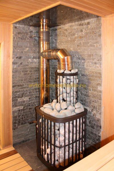 печка установленная в бане