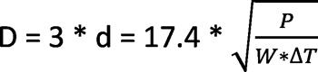 формула расчета гидравлического разделителя по параметрам мощности котла отопления