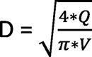 форумла расчета диаметра гидрораспределителя