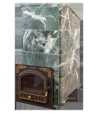 печка в каменной облицовке