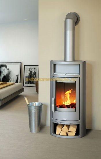 печь-камин с системой нагрева теплоносителя