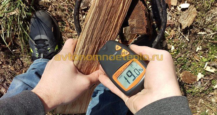 проверка влажности дров
