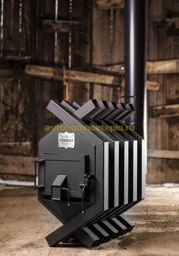 конвекционная дровяная печь из стали