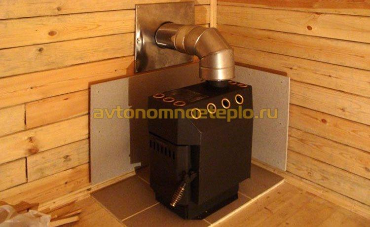 дачная печка на древесном топливе