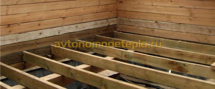укладка деревянных лаг