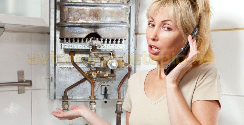 причины угасания газового водонагревателя
