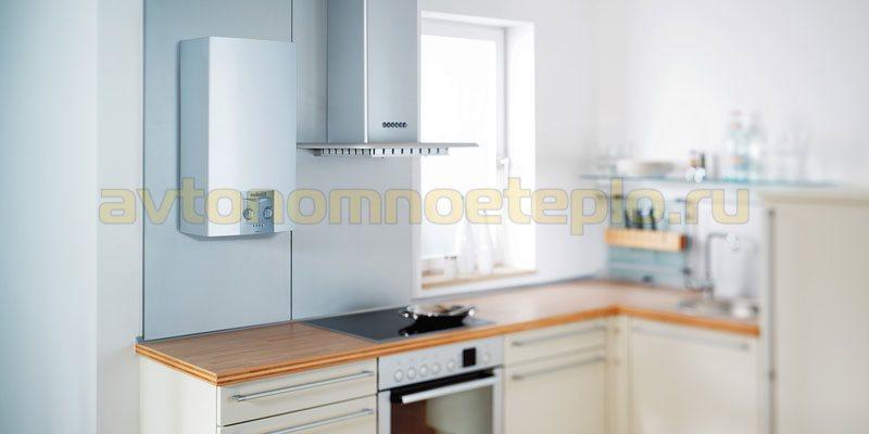 проточный газовый бойлер на кухне