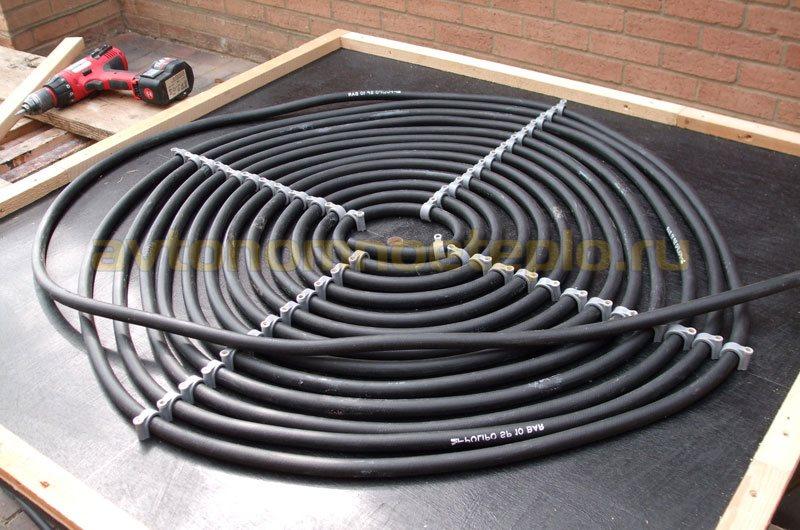 спиральный коллектор из трубы