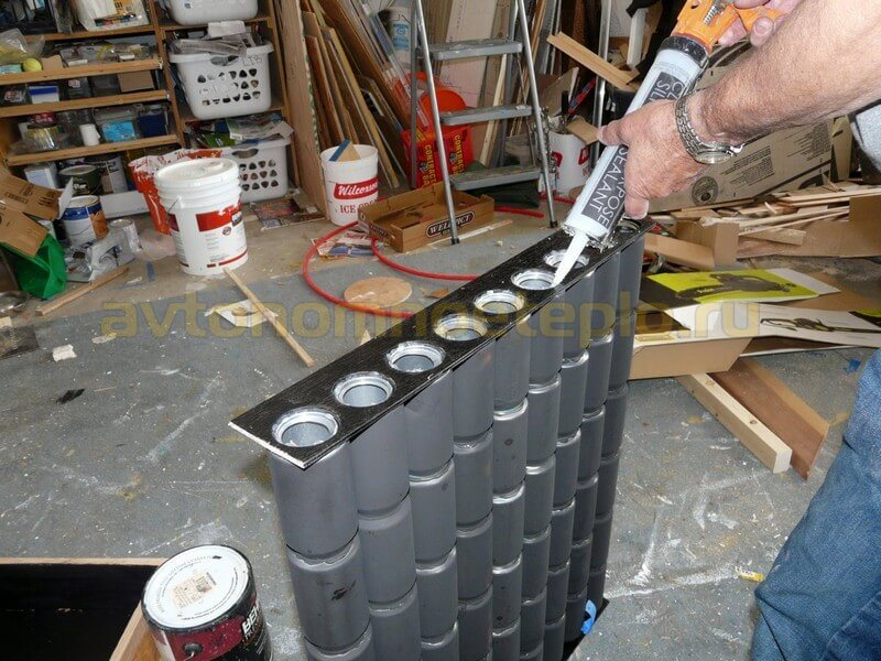 Коллектор из алюминиевых банок 8