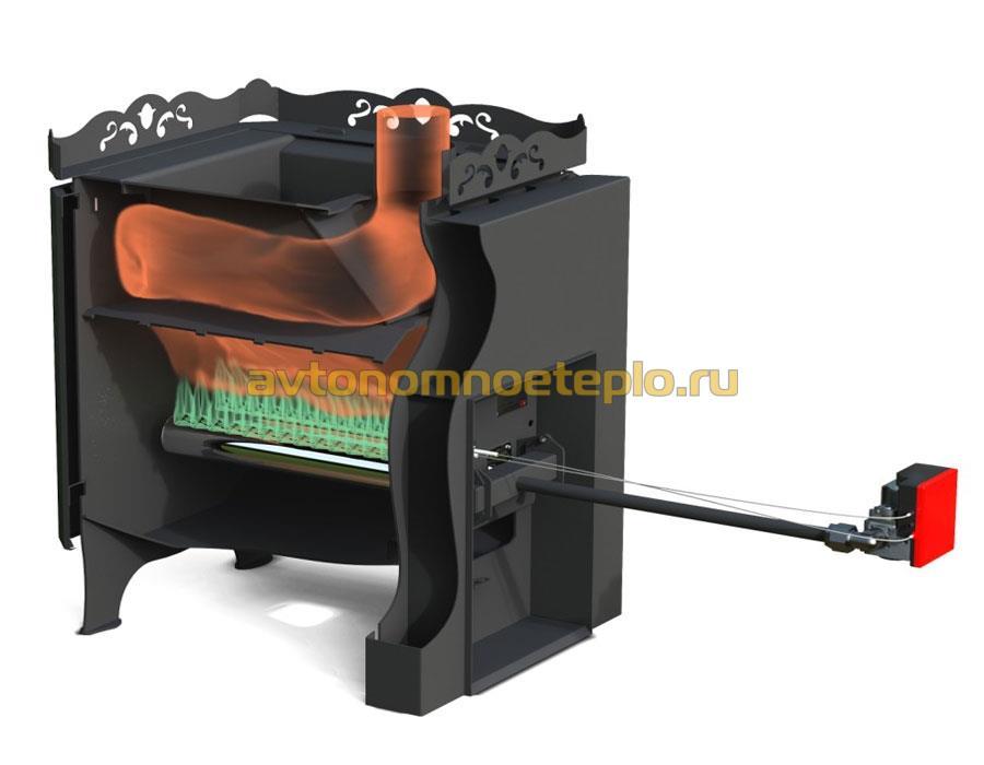 Печь для бани инверторная с теплообменником промывка теплообменника котла аристон