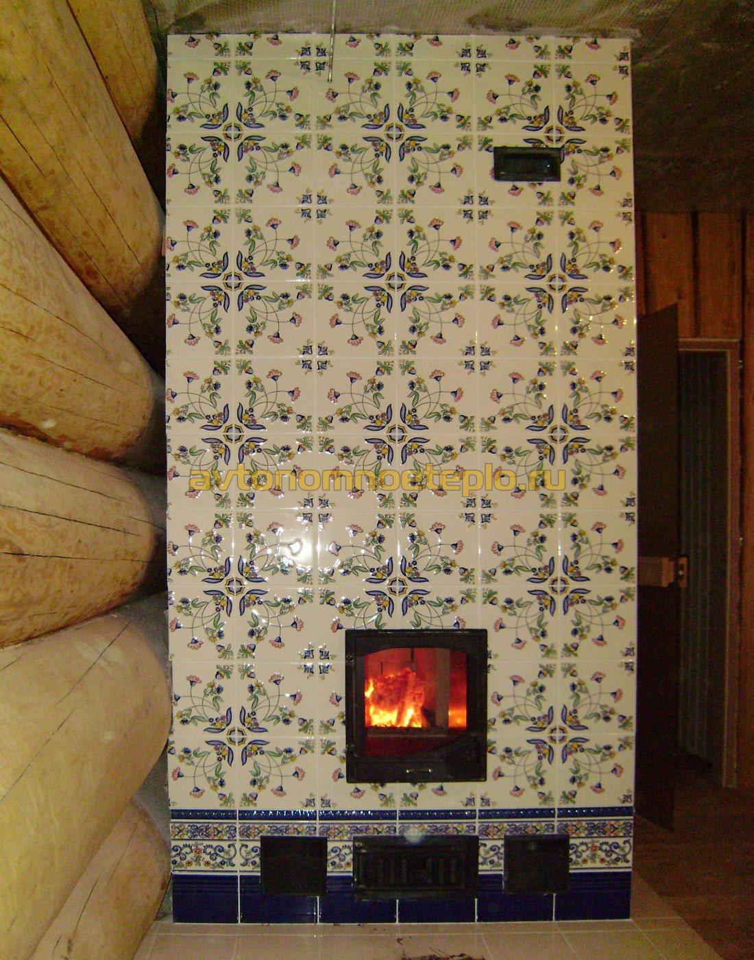Облицовка печей керамической плиткой своими руками фото