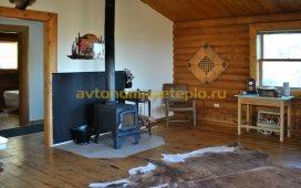 пічка на другому поверсі дерев'яного будинку