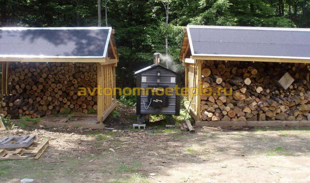 Отдельная котельная для частного дома на дровах 22