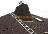 Разделка трубы на крыше