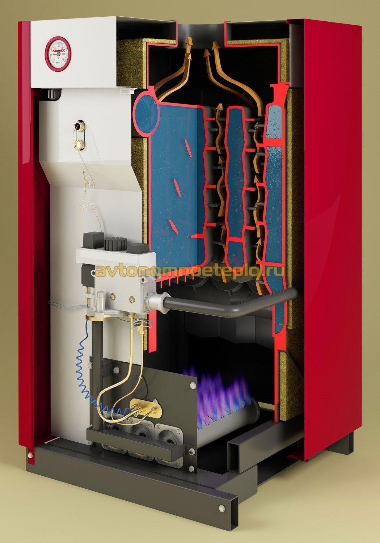 Газовые котлы отопления чугунным теплообменником напольный украинского производства теплообменник водяной установить