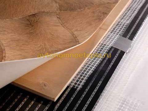 Пленочный теплый пол под линолеум монтаж и подключение