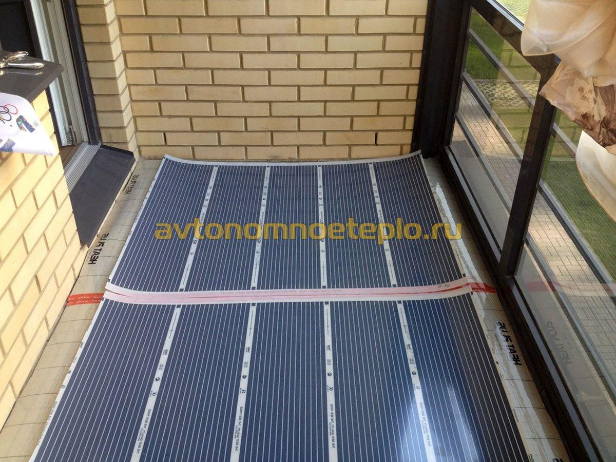 Инфракрасный теплый пол на балконе или лоджии - этапы укладк.