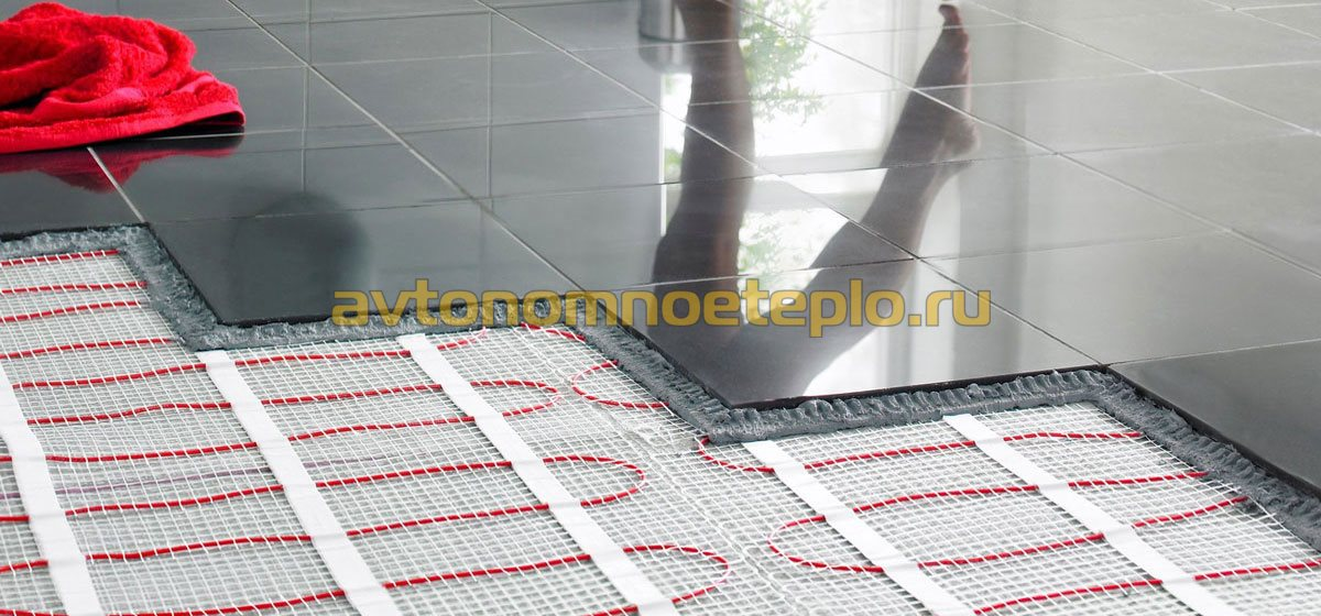 Электрический теплый пол для бани