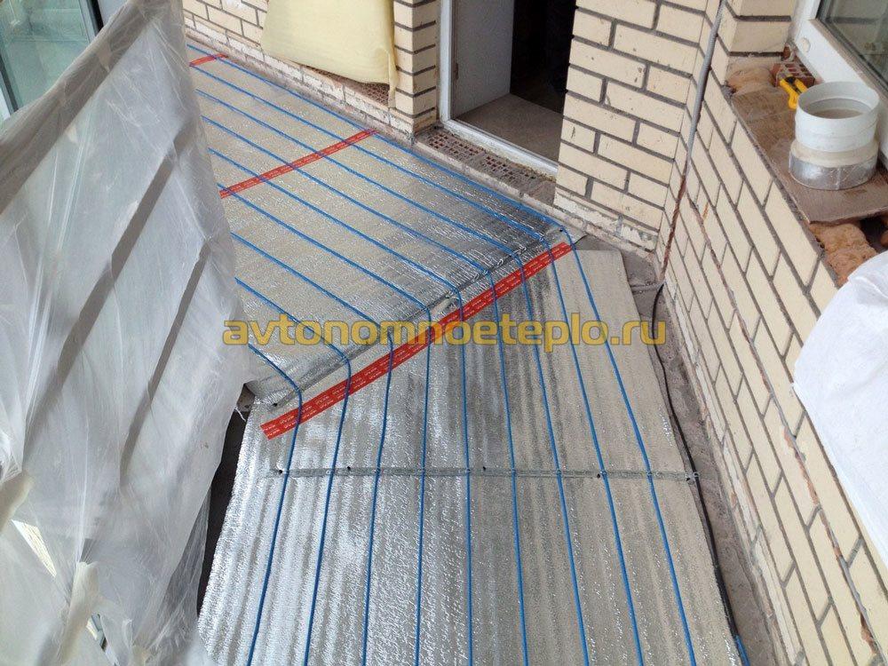 Электрический теплый пол на балконе или лоджии, инструкция и.