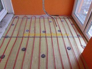 Электрический теплый пол на балконе