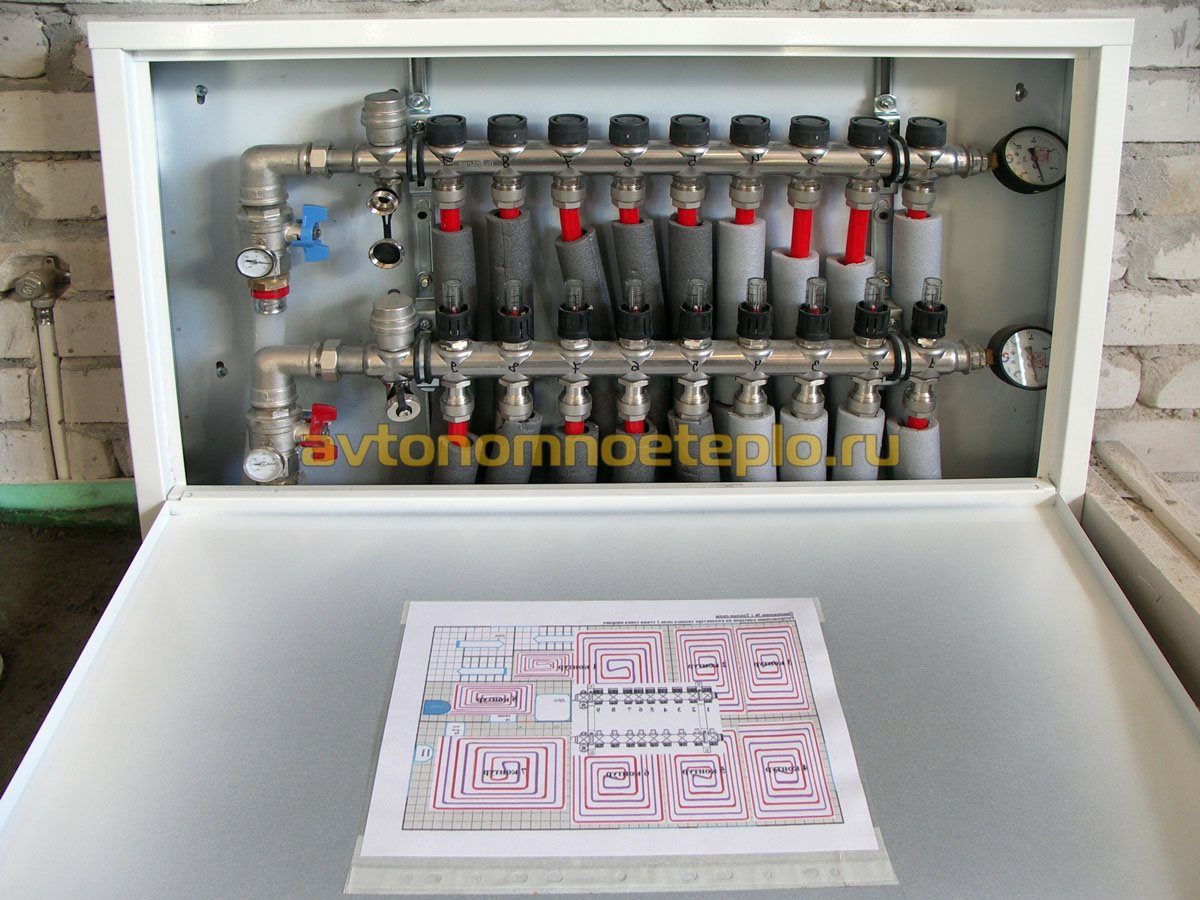 схема установки смесительного узла