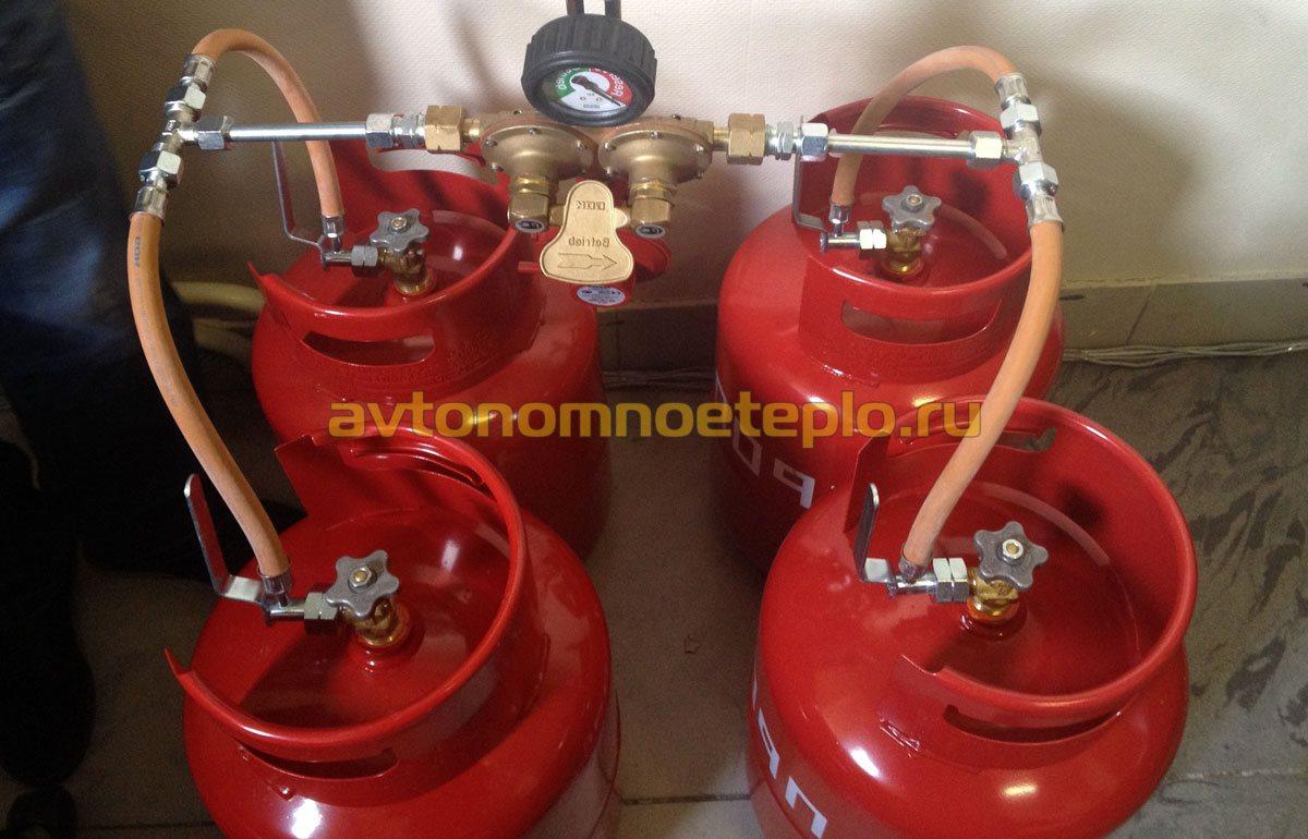 схема подключения газа к котлу