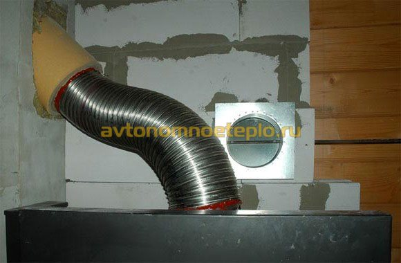 Установка гофрированной трубы для дымохода монтаж дымохода тис