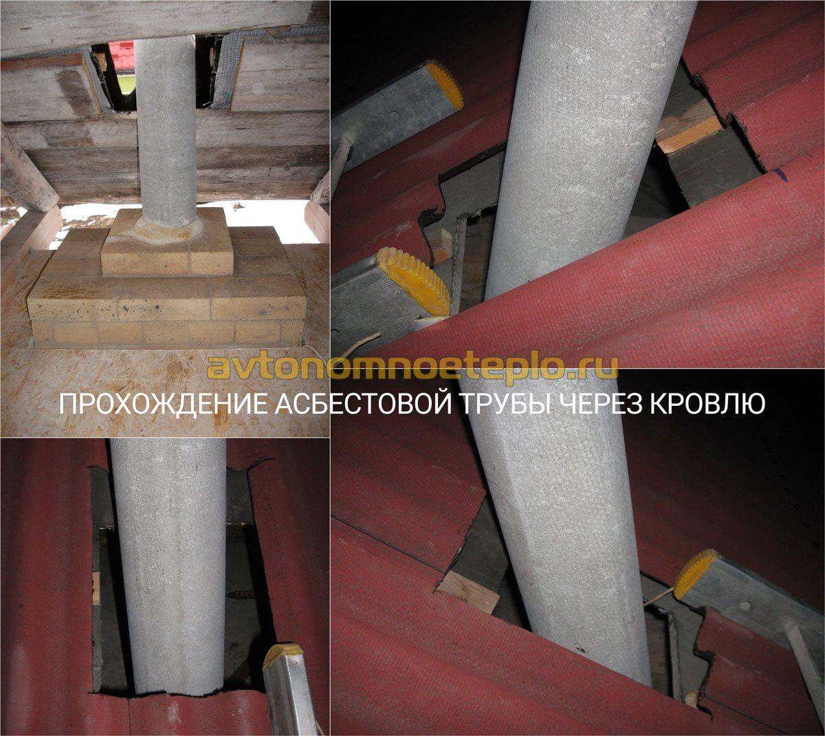 Проход дымохода через деревянное перекрытие - нормативы и технология 80