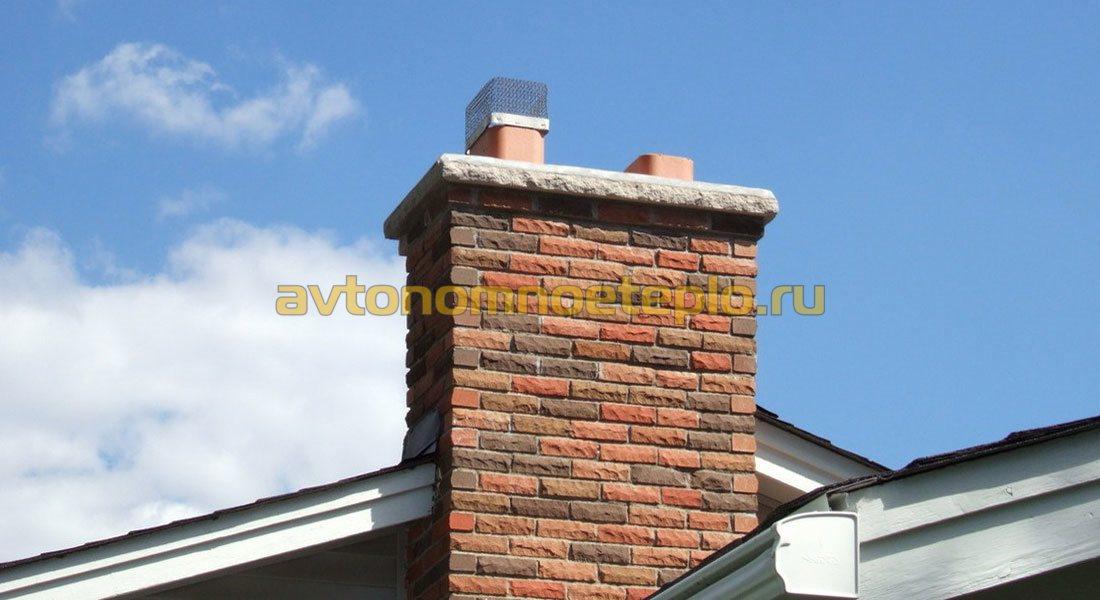 Дымоход для газового котла в кирпичной стене в частном доме кассеты для каминов или топка