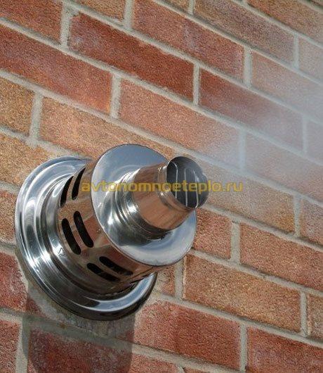 Чем просверлить стену под коаксиальный дымоход формы слов дымоход