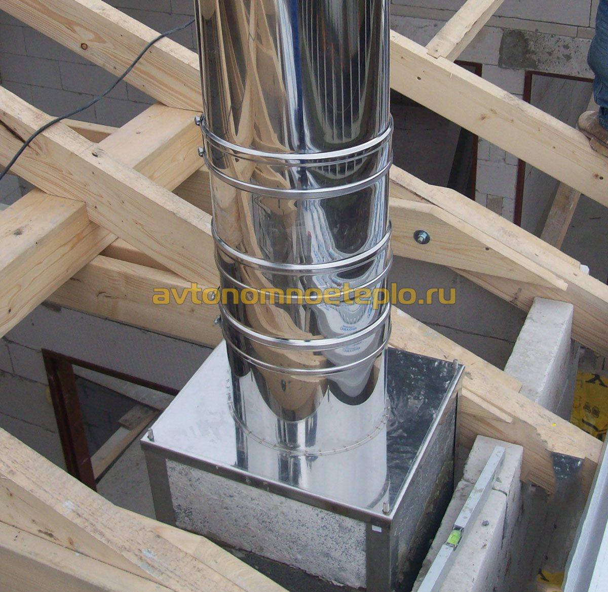 Проход дымохода через деревянное перекрытие - нормативы и технология 4