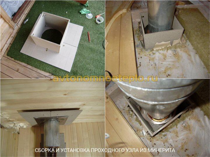 пример самостоятельного изготовления проходного узла из минерита